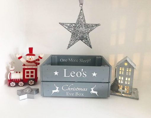 Christmas Eve Crate.Personalised Christmas Eve Crate